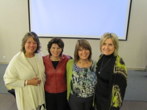 Barb with her 3 guest speakers
